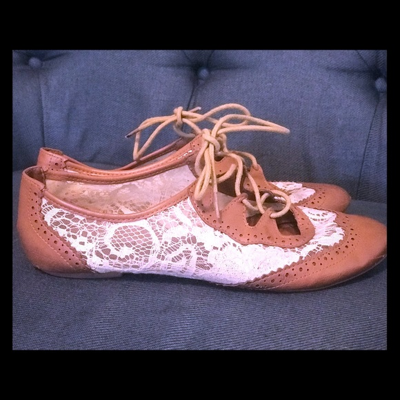 Not Rated Shoes - Oxford Lace Flats